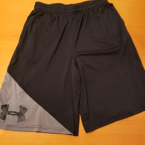 Basketball shorts and spandex.